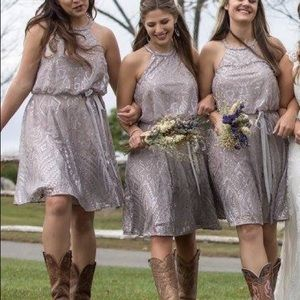 Formal Taupe/Purple sequin dress